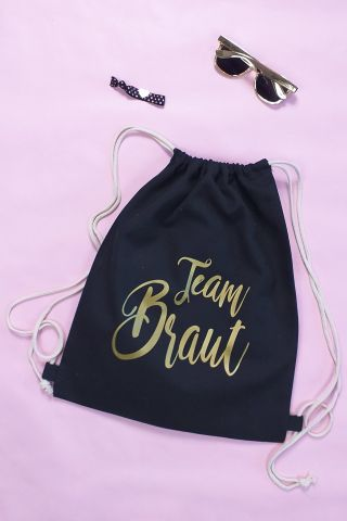 Moderne Team Braut JGA Accessoires - Gold-Design