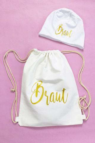 JGA Winter-Accessoires für die Braut - Gold-Design