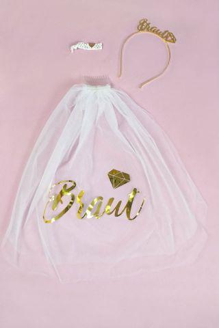 JGA Haar-Accessoires für die Braut im Gold-Design