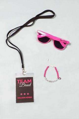 JGA Kleidung für Frauen in Pink-Schwarz