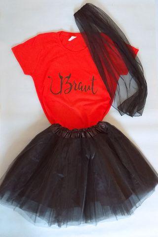 JGA Braut-Outfit im Teufel-Design