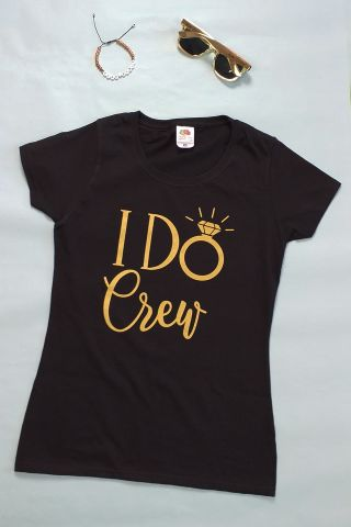 I Do Crew JGA Outfit in Schwarz-Gold
