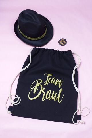 JGA Outfit-Set für Frauen im Gold-Design