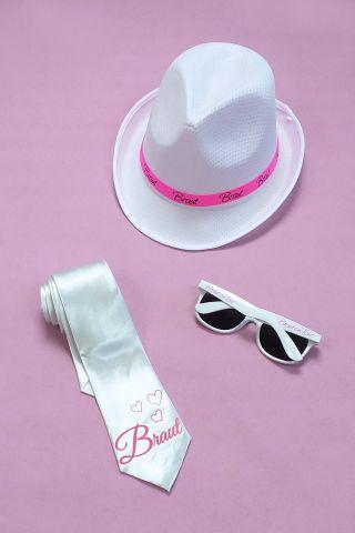 Weisse JGA Verkleidung für Frauen - Braut