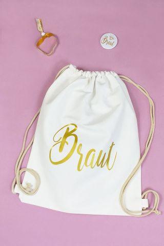 JGA-Zubehör für Frauen - Braut - Gold-Design