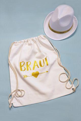Junggesellenabschied Braut-Zubehör in Weiss-Gold