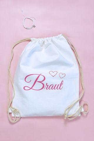 Weisse Junggesellinnenabschied-Artikel für die Braut