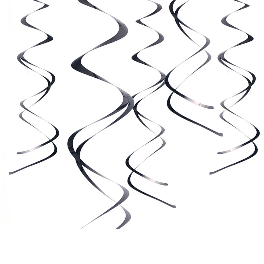 Schwarze Deckenspiralen