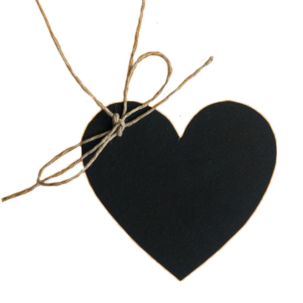 Schwarzer Papier-Anhänger in Herzform