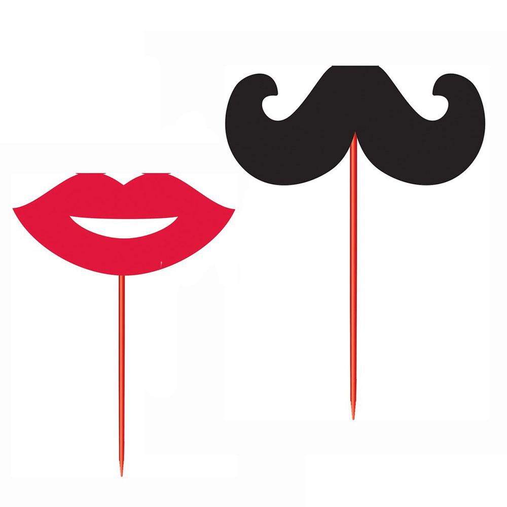 Food-Picker mit Schnurrbart und Lippen