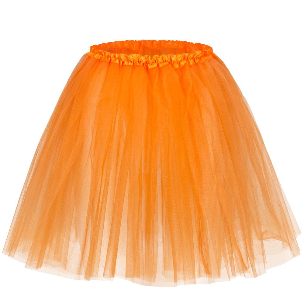 Orangefarbenes Fun-Tütü - Tüllrock für Fasching und Junggesellenabschiede