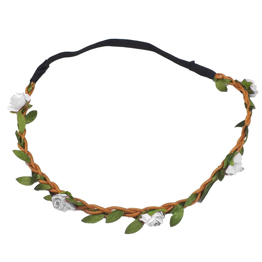Haarband mit Blumen in Weiß
