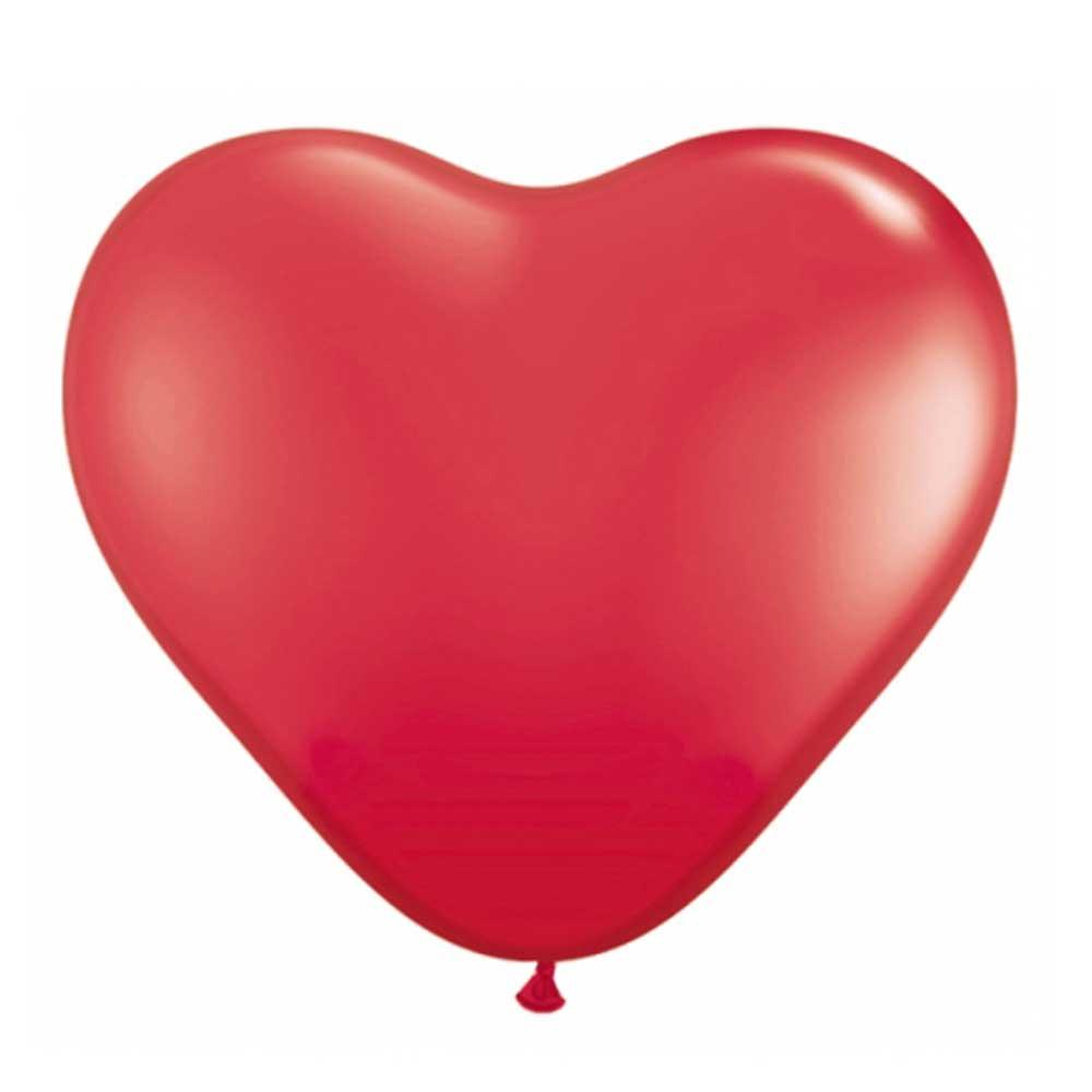 Roter Luftballon in Herzform