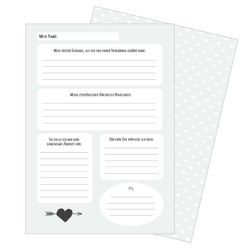 Hochzeitsbrauch - Briefe an das Brautpaar - A4-Format