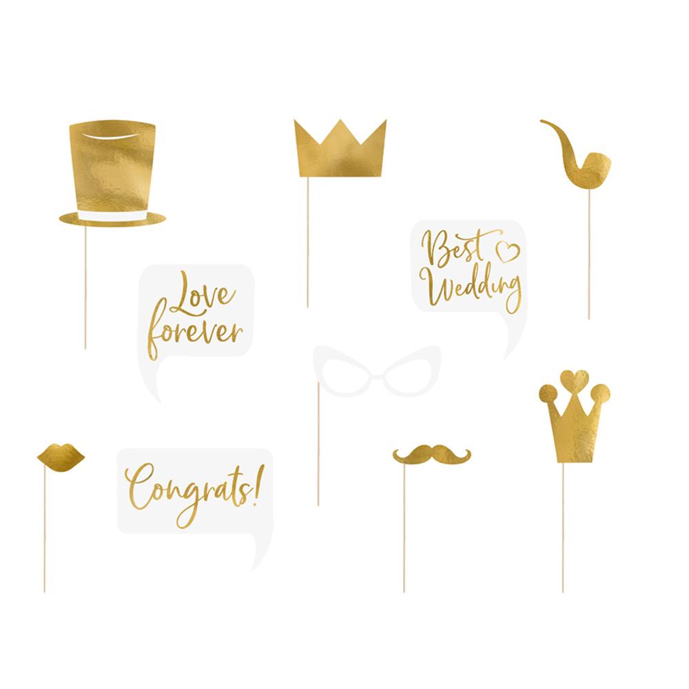Foto-Booth-Requisiten für die Hochzeitsfeier