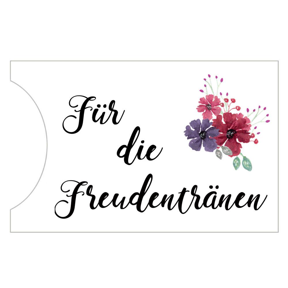 Taschentuch-Halter - Freudentraenen - im Blumen-Design