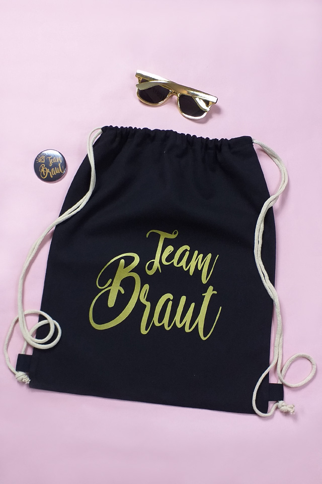 JGA Accessoire-Set Team Braut in Gold