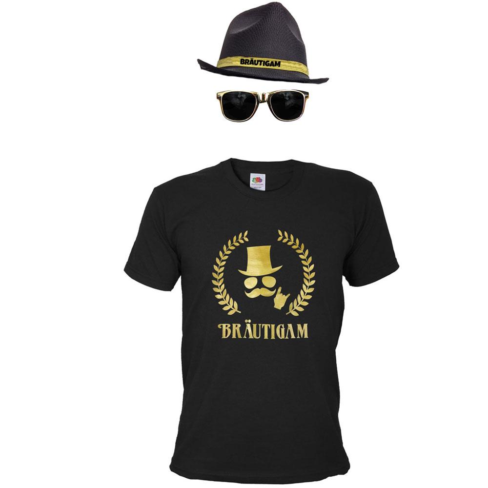 JGA Bräutigam-Kostüm im Gold-Design