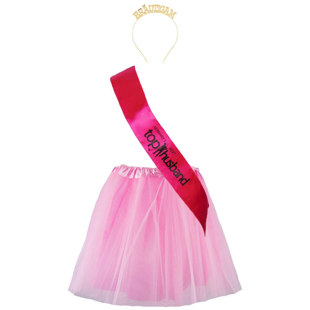Top Husband - JGA Bräutigam-Kostüm in Pink-Rosa