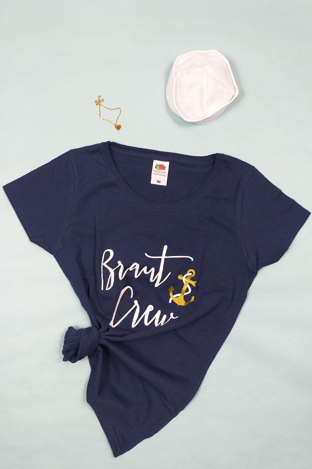 Maritime Braut Crew-Verkleidung für den Junggesellenabschied