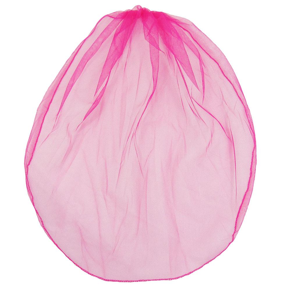 Pinkfarbener Braut-Schleier für den Junggesellenabschied