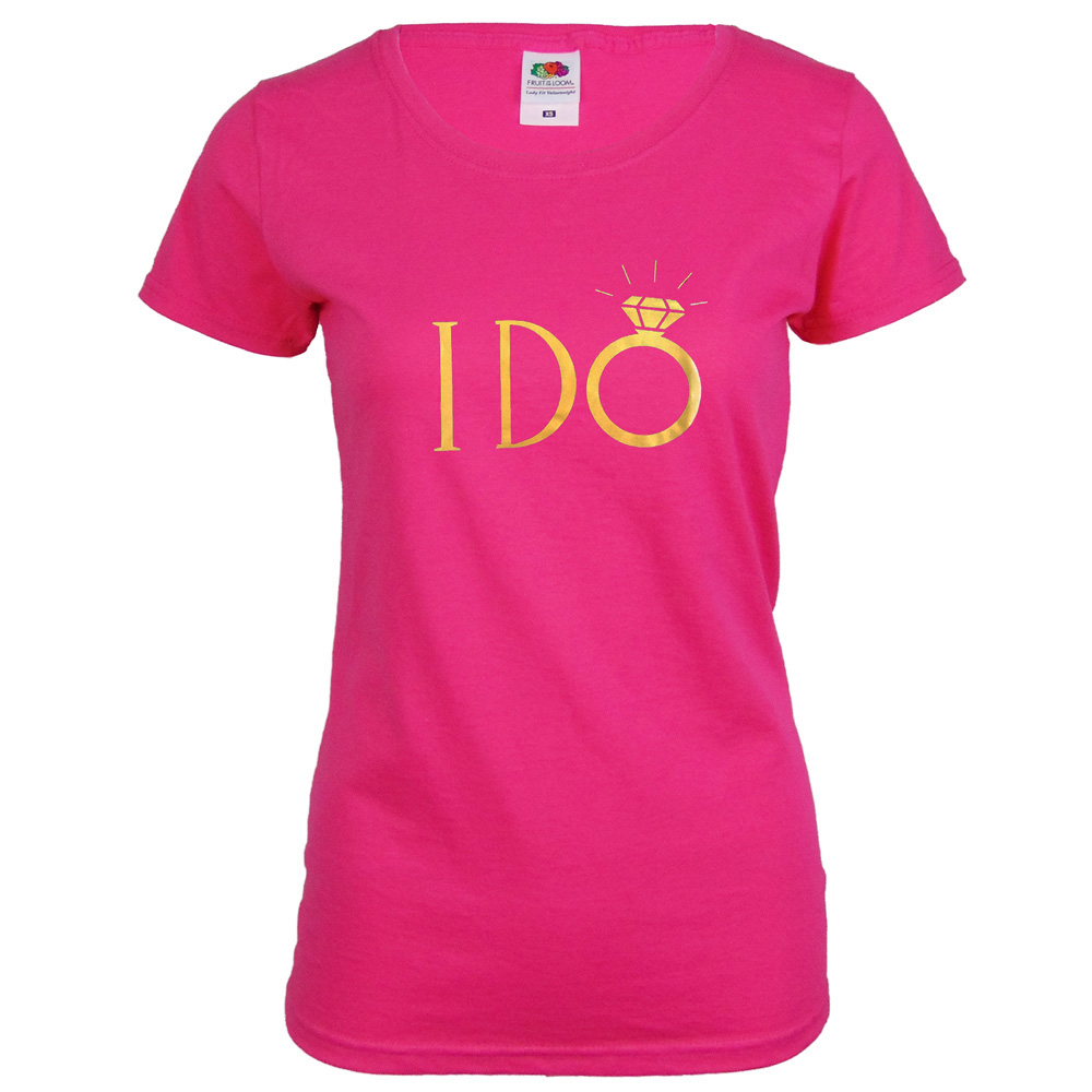 JGA Braut-Shirt I DO - Pink