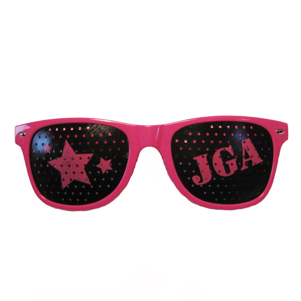 Junggesellenabschied-Brille in Pink