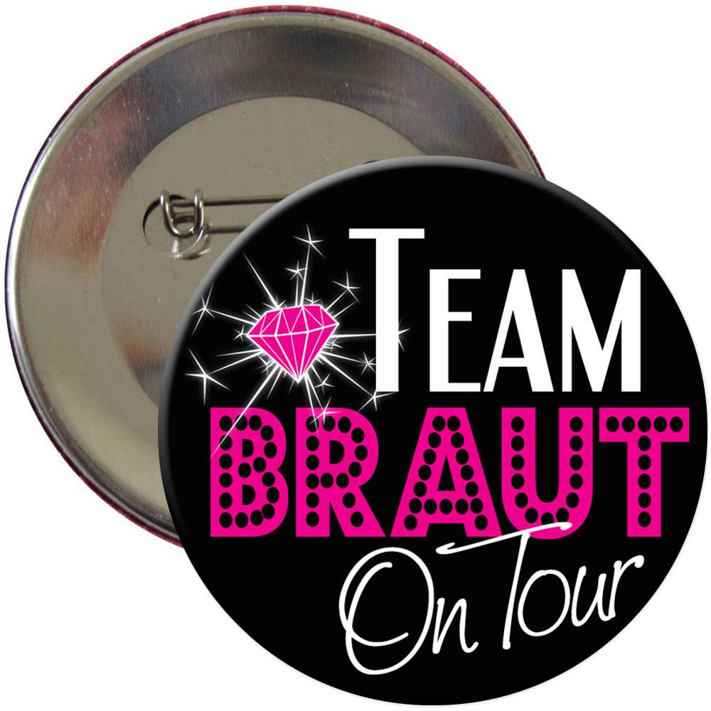 Junggesellenabschied-Button Team Braut on Tour