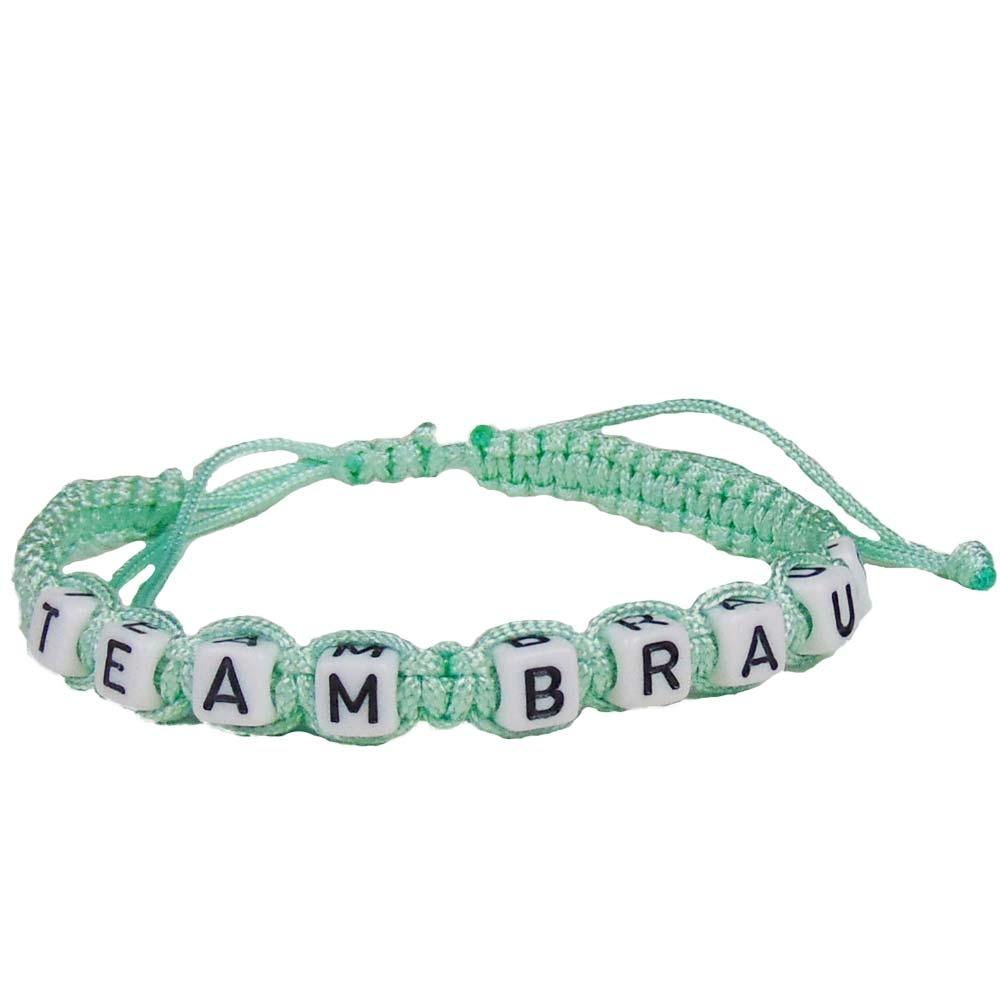 Freundschafts-Armband Team Braut - JGA Accessoire - Pastell-Grün