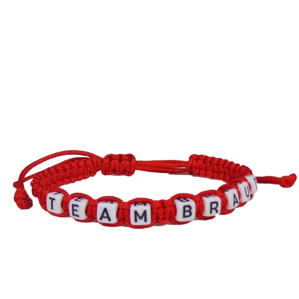 JGA Freundschafts-Armband Team Braut - Rot
