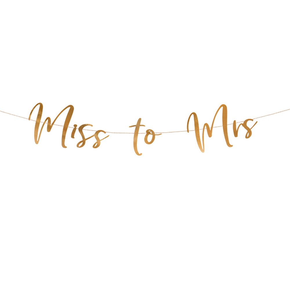 JGA-Deko Rose-Gold - Girlande Miss to Mrs