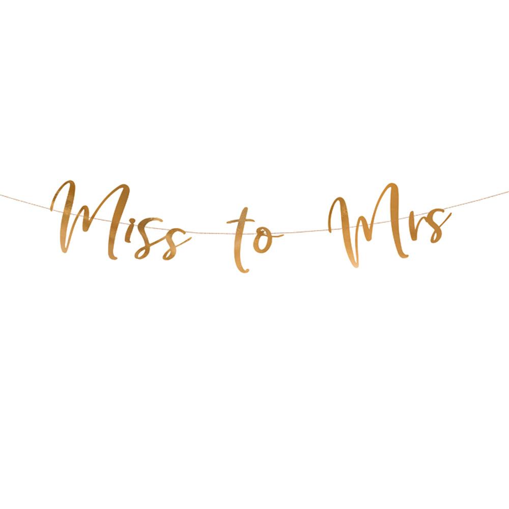 JGA-Deko Rose-Gold - Girlande Miss to Mrs