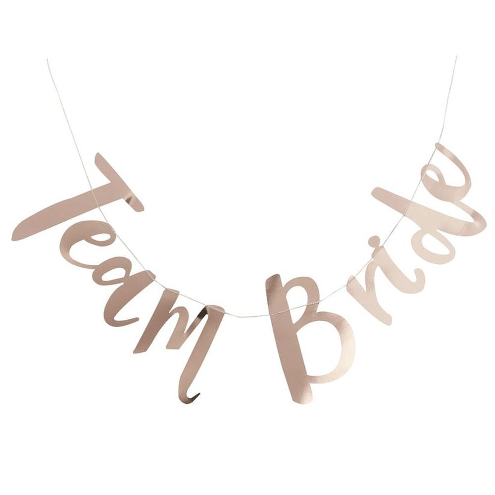 Bridal Shower - Deko-Girlande Team Bride in Gold