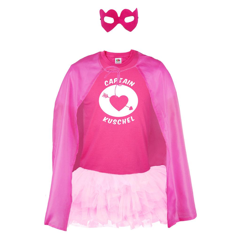 JGA Bräutigam-Kostüm - Superheld Captain Kuschel - Pink