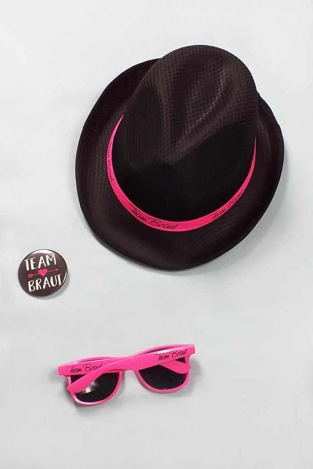 JGA Kostüm für Frauen in Pink-Schwarz