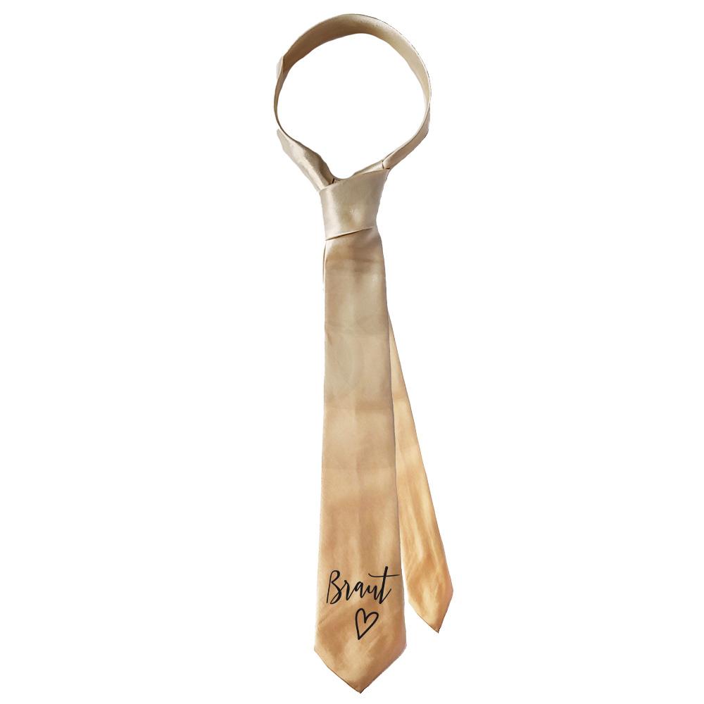 Goldfarbene Braut-Krawatte für den Junggesellinnenabschied