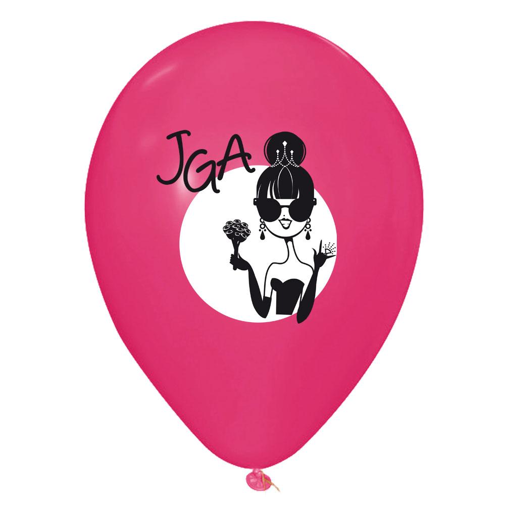 JGA-Luftballons mit Braut-Motiv - Junggesellenabschied-Deko