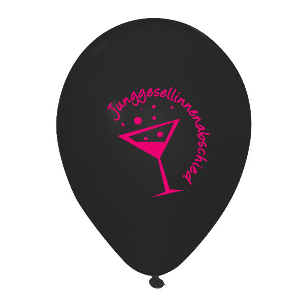 Schwarzer Luftballon mit JGA-Motiv