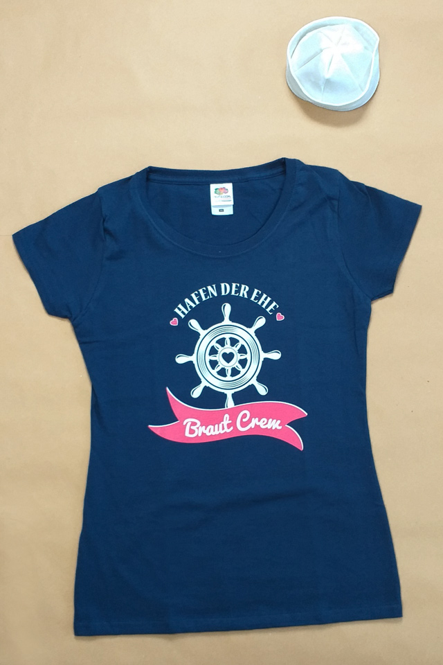 JGA Matrosin-Set - Braut Crew Shirt und Hut