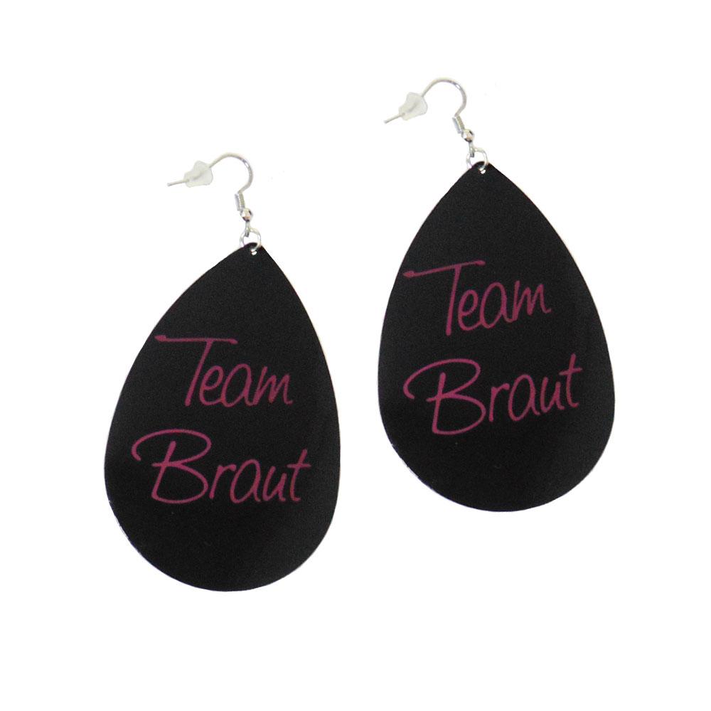 Ohranhänger mit Team Braut Motiv