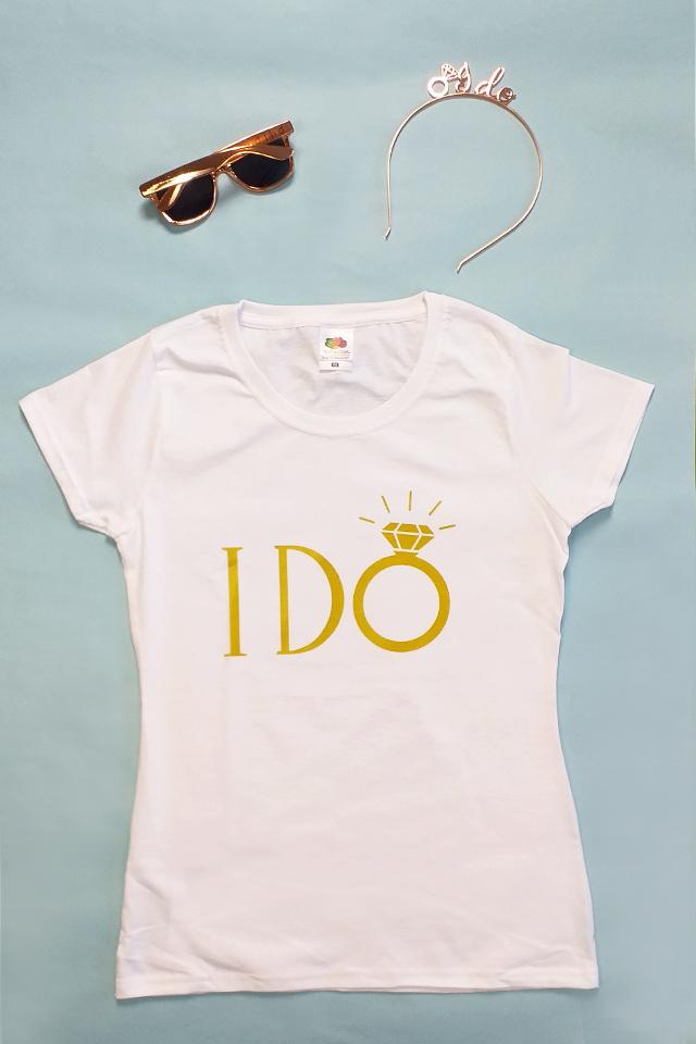 JGA Braut-Outfit - I Do - Rose-Gold