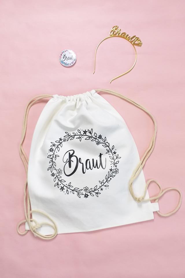 JGA-Outfit für Frauen - Braut - Blumenkranz