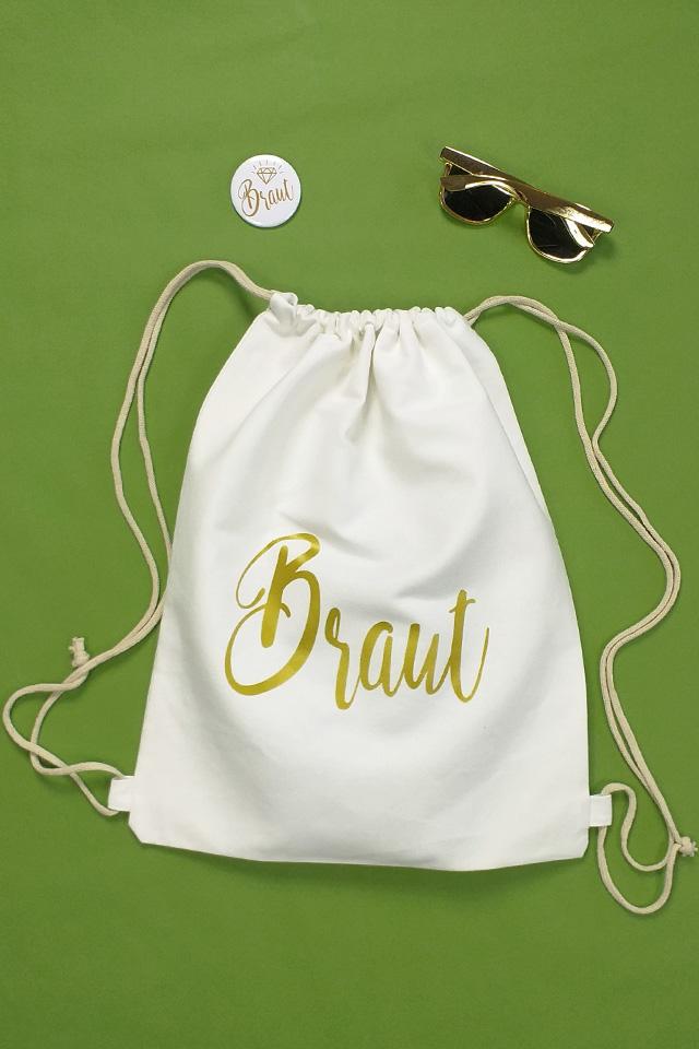 JGA Outfit-Idee für Frauen - Braut - Weiss-Gold