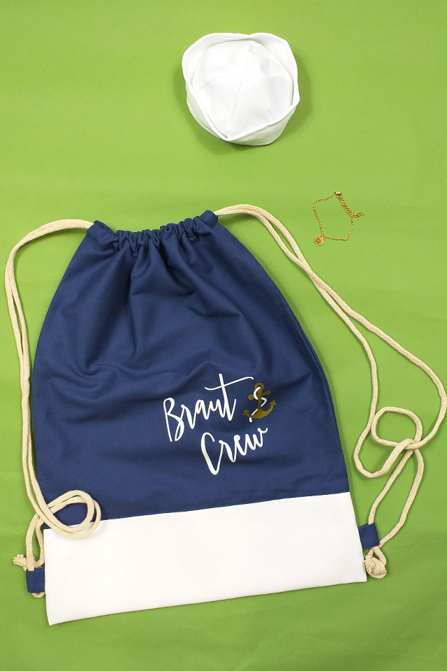 Maritimes Braut Crew-Outfit-Set für den JGA