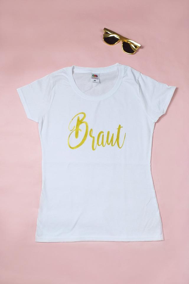 JGA Outfit-Set für die Braut im Gold-Design