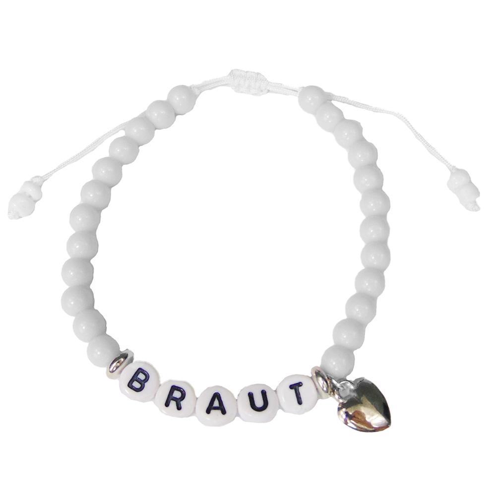 JGA Braut-Armband mit Perlen in Weiss
