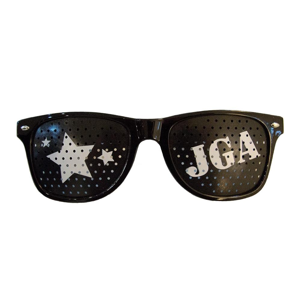 JGA-Partybrille in schwarz
