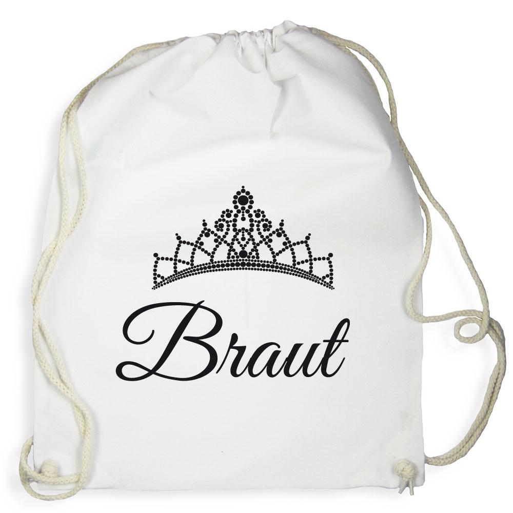 Weißer Braut-Rucksack für den Junggesellenabschied