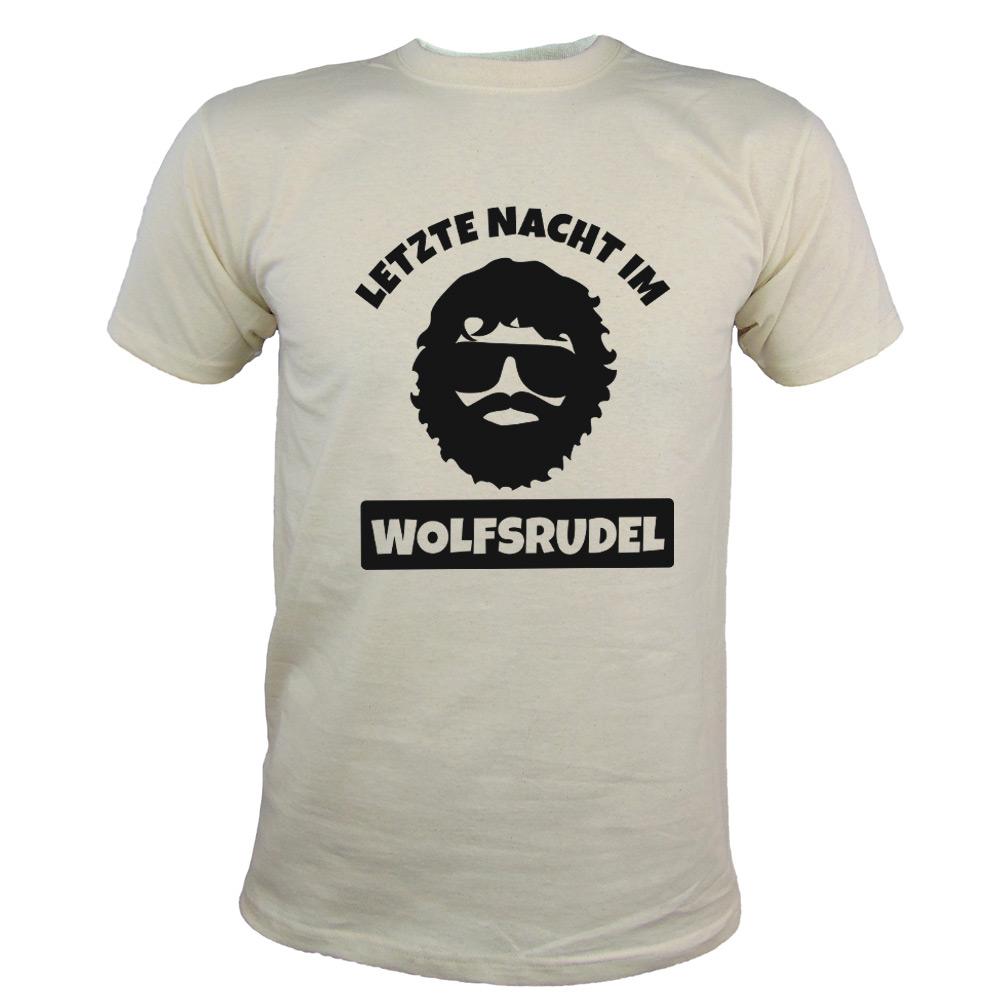 JGA T-Shirt Wolfsrudel mit Alan-Motiv - Hangover - Naturfarben