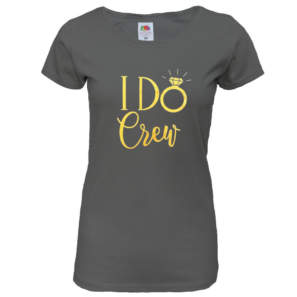 """Junggesellenabschied T-Shirt """"I Do Crew"""" - Dunkelgrau"""